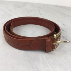 Playboy Brown Leather Belt With Bunny Ears 34-36